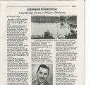Lake George Horany Article